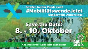 #MobilitätswendeJetzt! Save the Date