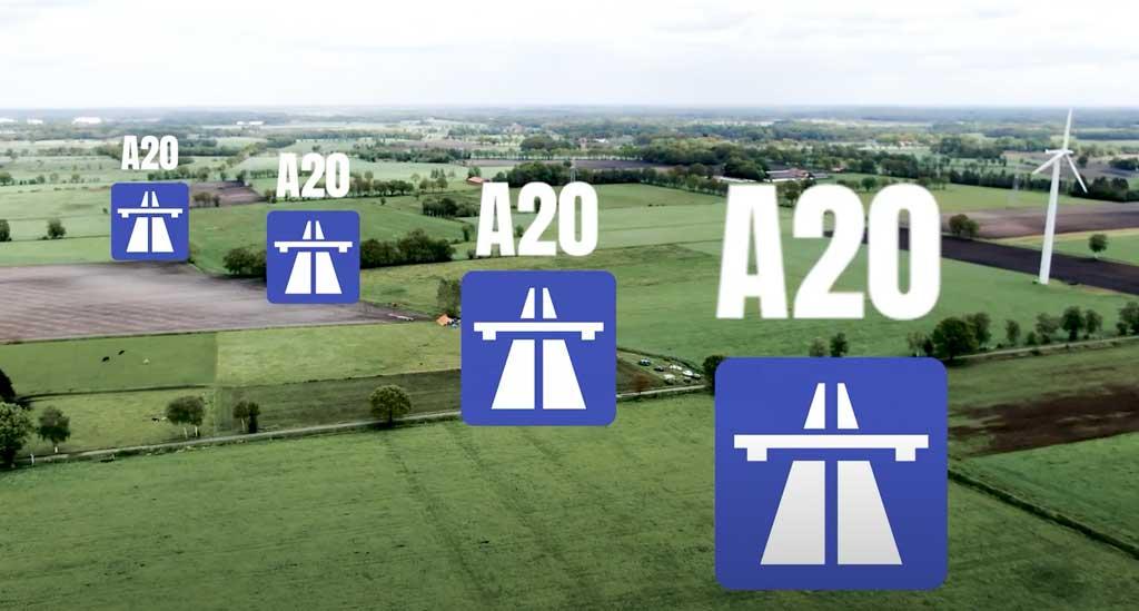 Verlauf der A20